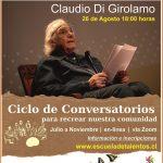 Escuela de Talentos Realizará su 2do. Conversatorio, con el Destacado Artista Chileno, Claudio Di Girolamo