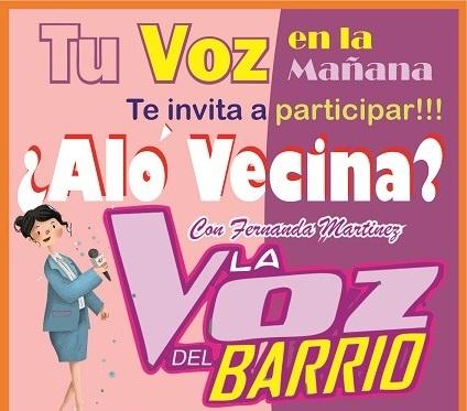 Alo Vecino el concurso de Tu Voz en la Mañana